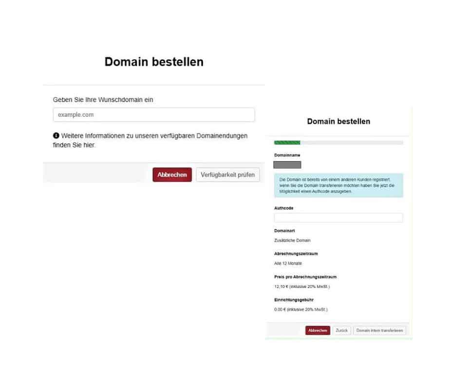 Umzug WordPress Website Domain bestellen